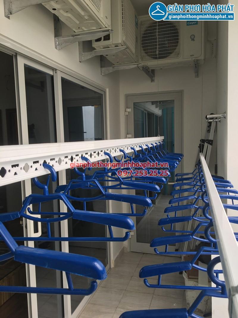 Lắp giàn phơi Từ Liêm - bộ giàn Hòa Phát Air 701, nhà chị Ngần chung cư Ecolife Capitol