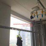 Sửa giàn phơi thông minh nhà anh Định ở CT13B Ciputra bị hỏng hộp quay