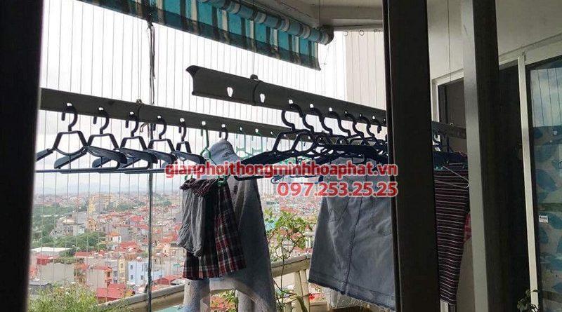 Sửa giàn phơi thông minh tại Hoàng Mai ở ngõ 68 Đại Từ nhà chị Mây bị hỏng hộp quay