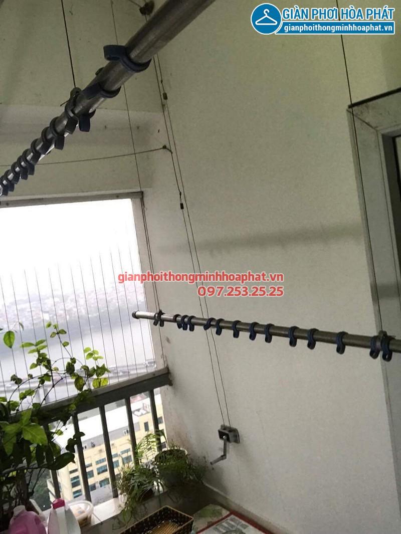 Sửa giàn phơi thông minh tại Hoàng Mai ở VP3 Linh Đàm nhà anh Hạo bị hỏng hộp quay