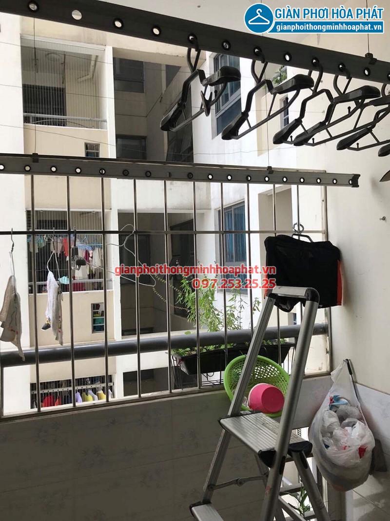 Sửa giàn phơi thông minh tại Mỹ Đình bị đứt dây cáp nhà chú Hữu ở Mỹ Đình Plaza