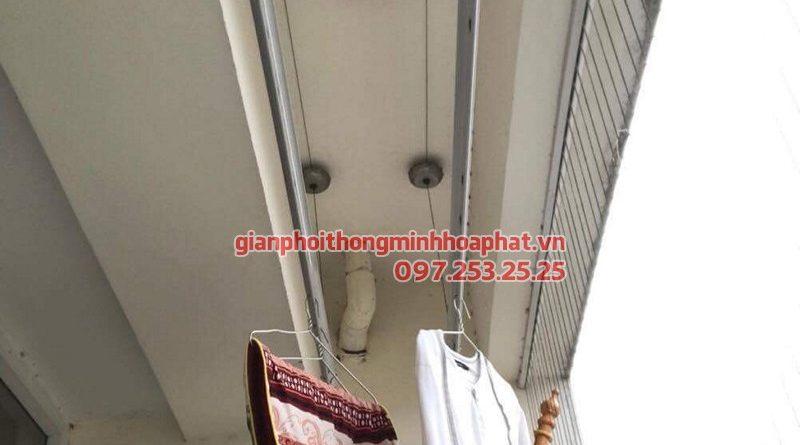 Thay bộ tời giàn phơi thông minh Hòa Phát 999B cho giàn phơi nhà cô Hoa ở 183 Hoàng Văn Thái