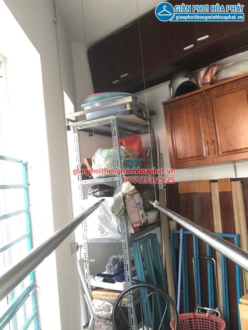 Sửa giàn phơi quần áo nhà anh Huấn ở chung cư CT9 Mỹ Đình