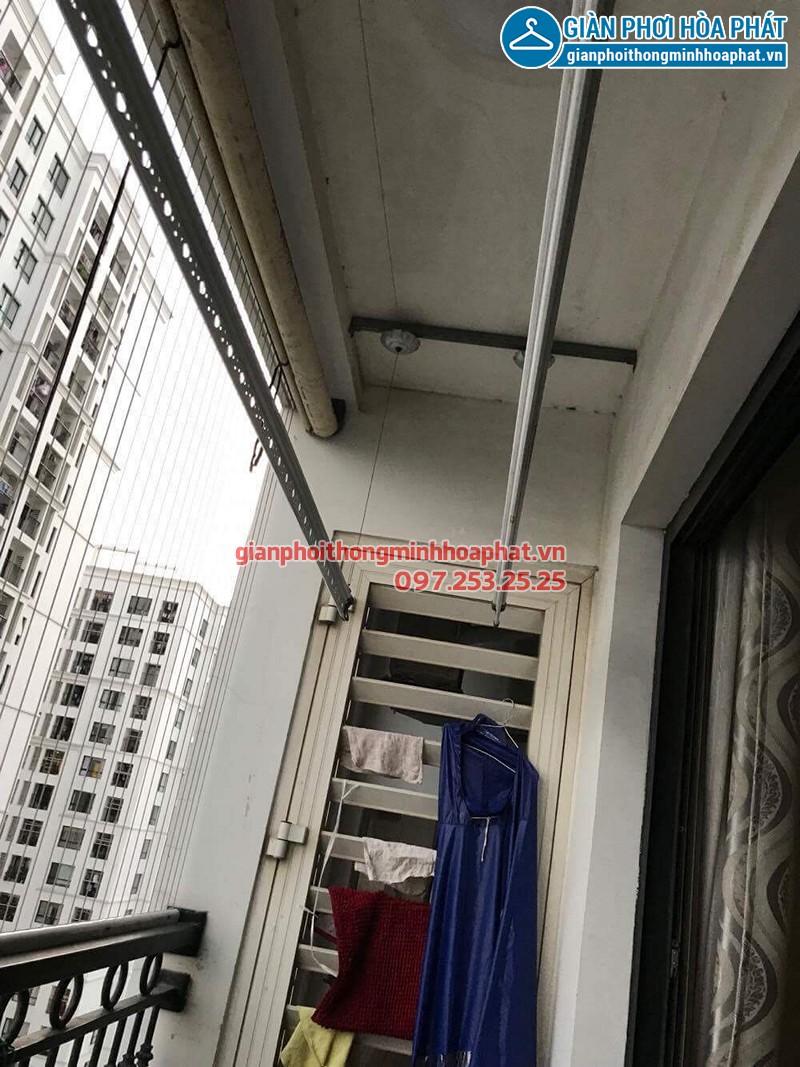 Thay dây cáp giàn phơi thông minh nhà chị Nụ ở T8 Times City, Minh Khai