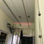 Thay dây cáp giàn phơi thông minh nhà chị Tình ở chung cư C14 – Bộ Công an
