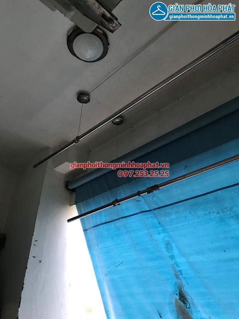 Sửa giàn phơi Thanh Xuân: thay dây cáp nhà chú Trung - 04