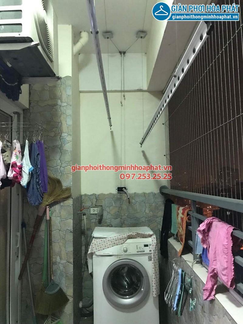 Bộ giàn phơi quần áo thông minh nhà cô Hải ở CT2A Nam Đô