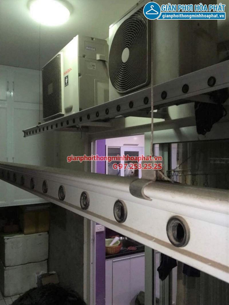 Thay dây cáp giàn phơi thông minh nhà cô Hải ở chung cư CT2A Nam Đô