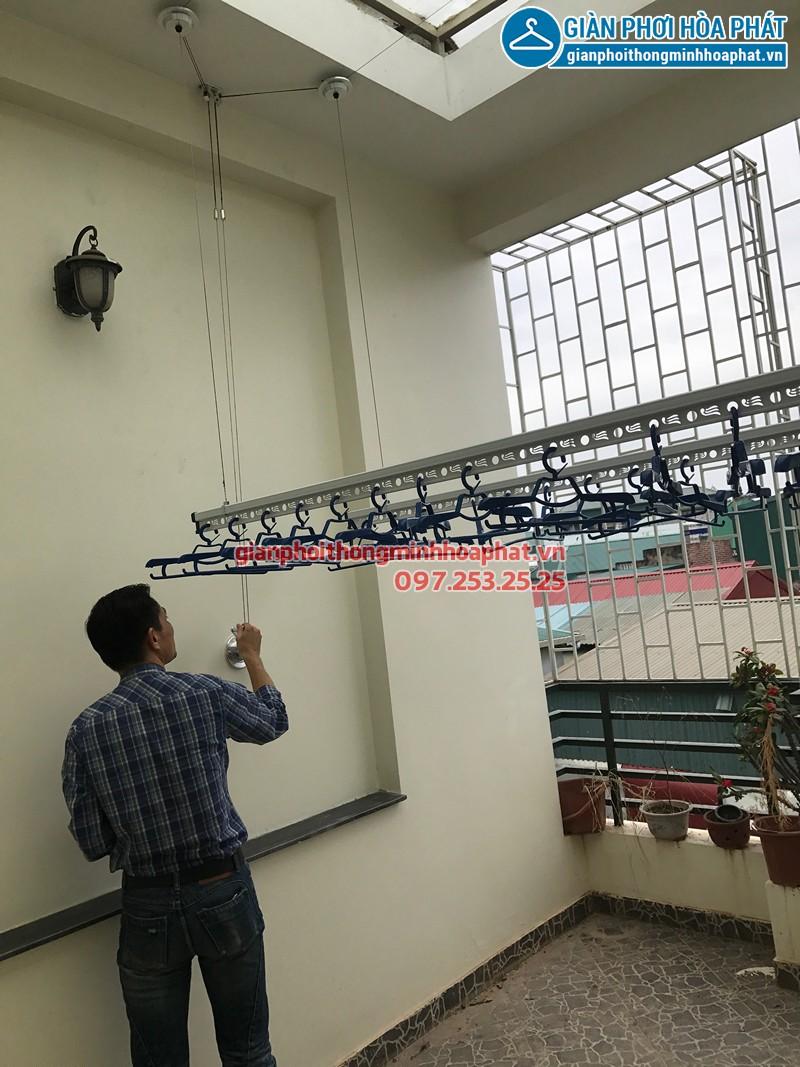 Lắp giàn phơi Ba Đình nhà anh Mạnh ở số 26 ngách 135/73 Đội Cấn