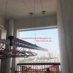 Lắp giàn phơi Cầu Giấy nhà anh Tuấn P1703 tòa Nam – Chelsea Park Trung Kính