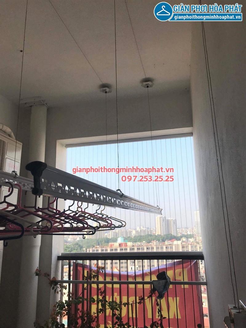 Lắp giàn phơi Cầu Giấy nhà anh Tuấn P1703 tòa Nam - Chelsea Park Trung Kính