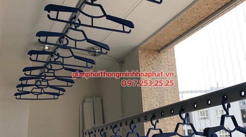 Lắp giàn phơi Đống Đa ở chung cư Tân Hoàng Minh Hoàng Cầu nhà chị Hằng, bộ HP701