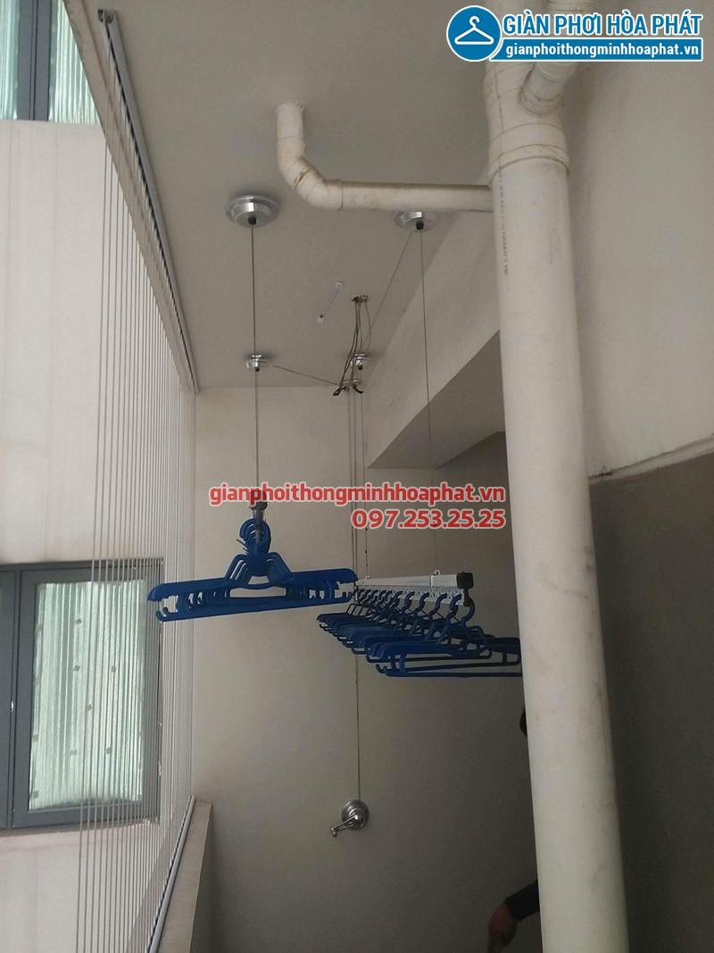 Lắp giàn phơi Hà Đông nhà chị Hạnh ở tòa B chung cư Mulberry Lane