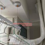 Lắp giàn phơi Thanh Xuân và lưới an toàn ban công nhà chú Hữu ở Star Tower 283 Khương Trung