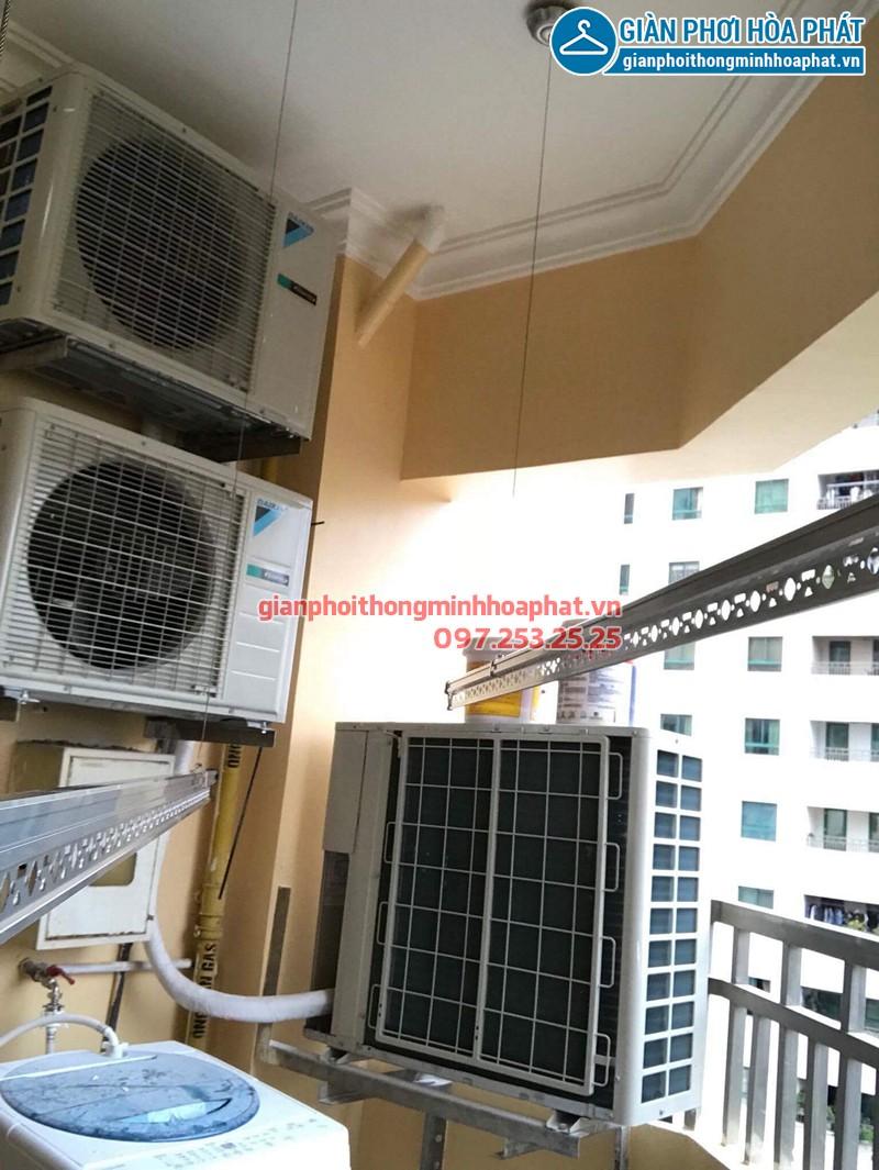 Lắp giàn phơi Cầu Giấy nhà chị Ngọc ở chung cư 24T2 Hoàng Đạo Thúy
