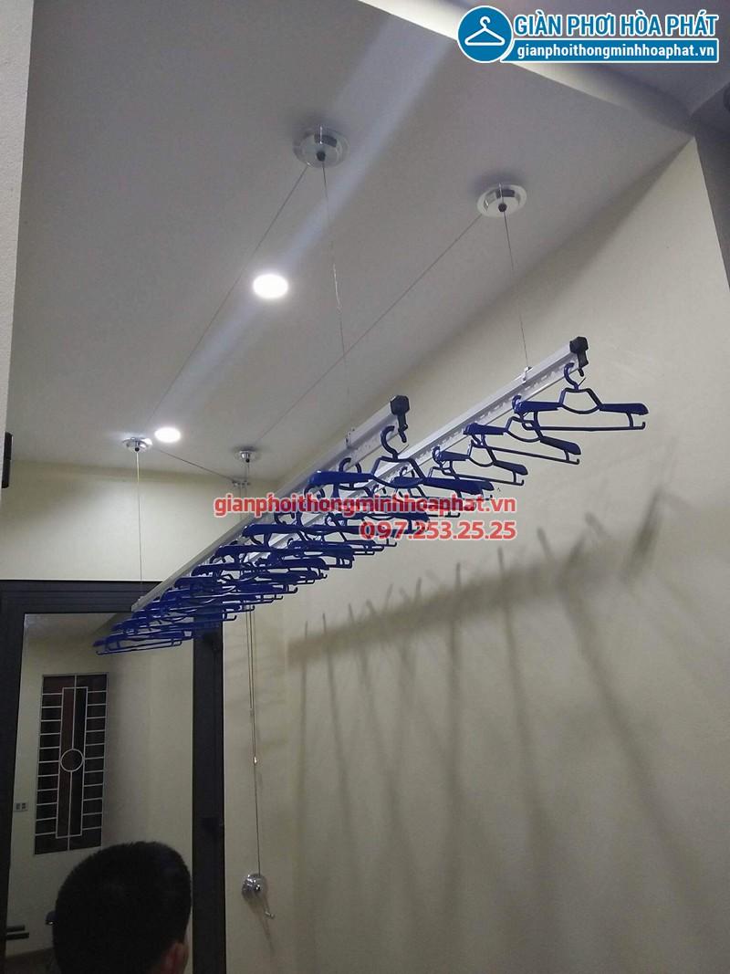 Lắp giàn phơi thông minh Hòa Phát nhà chú Trung ở xã Phù Lỗ, Sóc Sơn