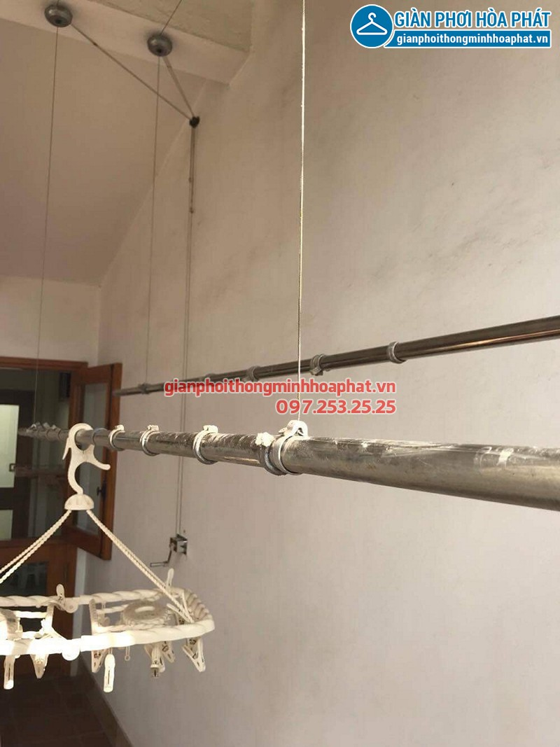Sửa giàn phơi thông minh tại Thanh Xuân nhà cô Cúc ở ngách 57 ngõ 322E Lê Trọng Tấn