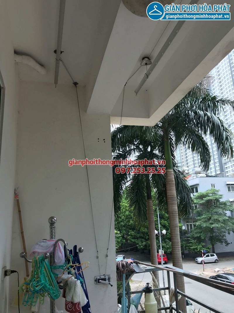 Thay dây cáp giàn phơi thông minh nhà chị Ninh ở chung cư An Lạc - Mỹ Đình