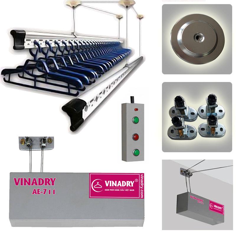 Giàn phơi bấm điện tự động Viandry AE711