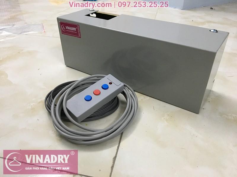 Hộp máy và bảng điều khiển của giàn phơi bấm điện tự động