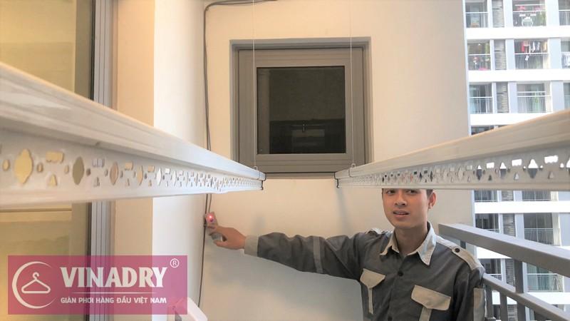 Bộ giàn phơi bấm điện tự động được lắp đặt thực tế ở chung cư Park Hill