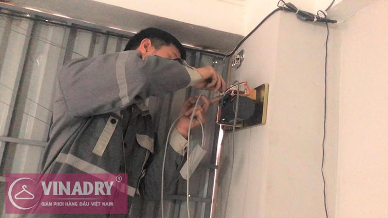 Hình ảnh lắp đặt giàn phơi thông minh bấm điện tự động