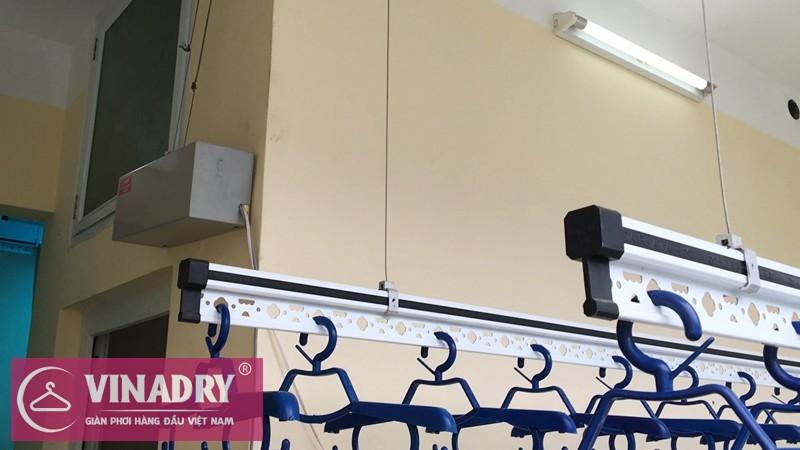 Hình ảnh lắp đặt thực tế bộ giàn phơi thông minh bấm điện tự động