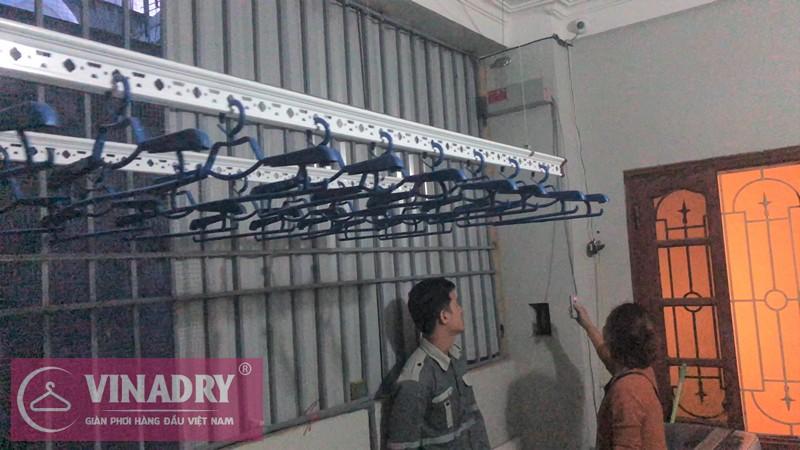 Hình ảnh lắp đặt thực tế bộ giàn phơi bấm điện tự động