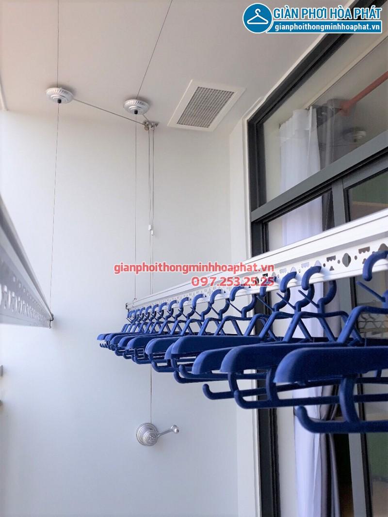 Lắp giàn phơi thông minh TPHCM nhà anh Trung căn 1706 chung cư Riva Park Quận 4