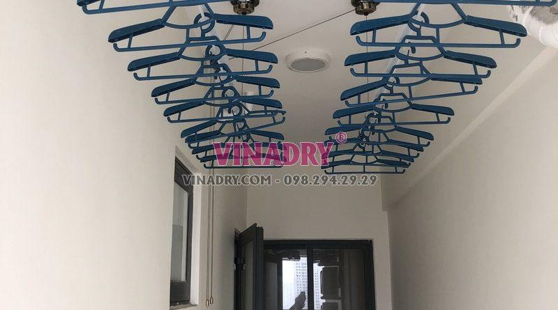 Giàn phơi Vinadry gp941 cực sang ki lắp tại lô gia chung cư
