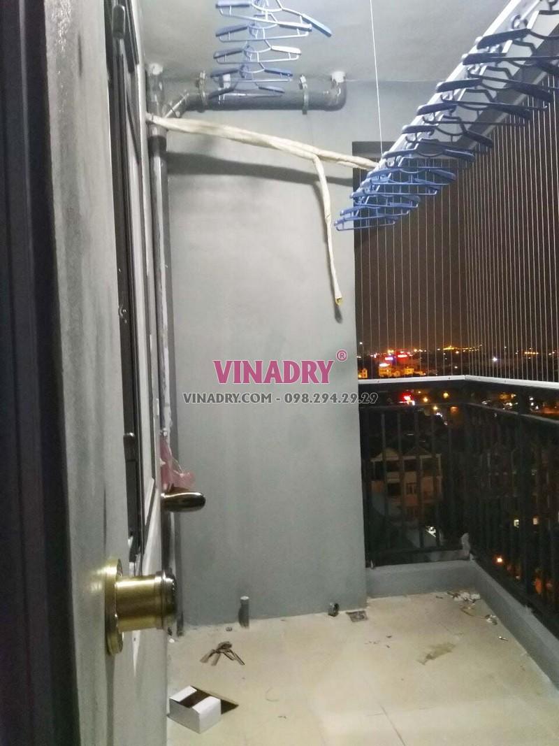 Lưới an toàn ban công lắp tại nhà anh Hạnh, căn 905 chung cư Sài Đồng Lake View - 01