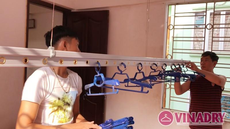 Lắp giàn phơi quần áo mẫu HP701 nhà anh Thái, ngõ 88 Ngọc Hà, Ba Đình, Hà Nội- 05