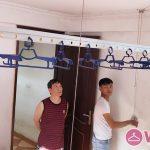 Lắp giàn phơi quần áo mẫu HP701 nhà anh Thái, ngõ 88 Ngọc Hà, Ba Đình, Hà Nội