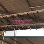 Lắp 2 bộ giàn phơi cho trần mái tôn nhà anh Tiến, ngõ 219 Bồ Đề, Long Biên, Hà Nội