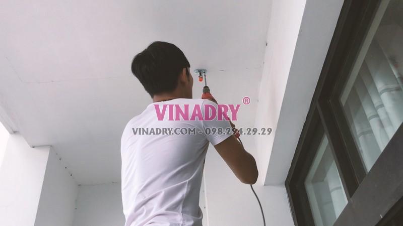 Lắp giàn phơi thông minh tại Royal City nhà chị Chi, mẫu mới 2019 - HP901 - 03