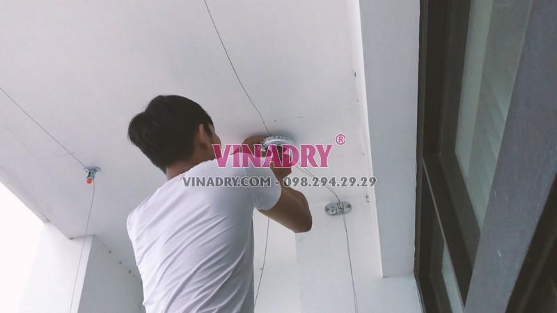 Lắp giàn phơi thông minh tại Royal City nhà chị Chi, mẫu mới 2019 - HP901 - 04