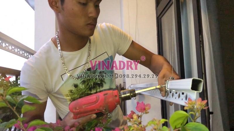 Lắp giàn phơi thông minh tại Royal City nhà chị Chi, mẫu mới 2019 - HP901 - 06