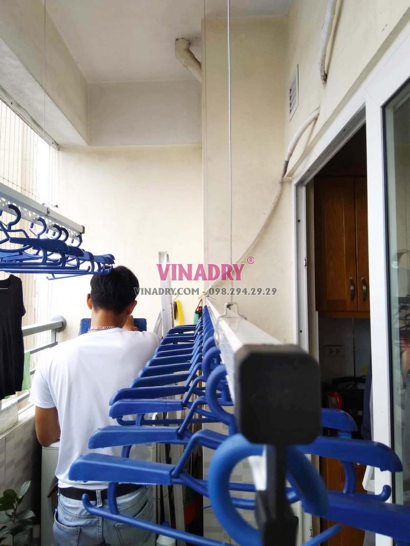 Lắp giàn phơi thông minh Hoàng Mai tại nhà anh Mạnh bộ HP701 - 05