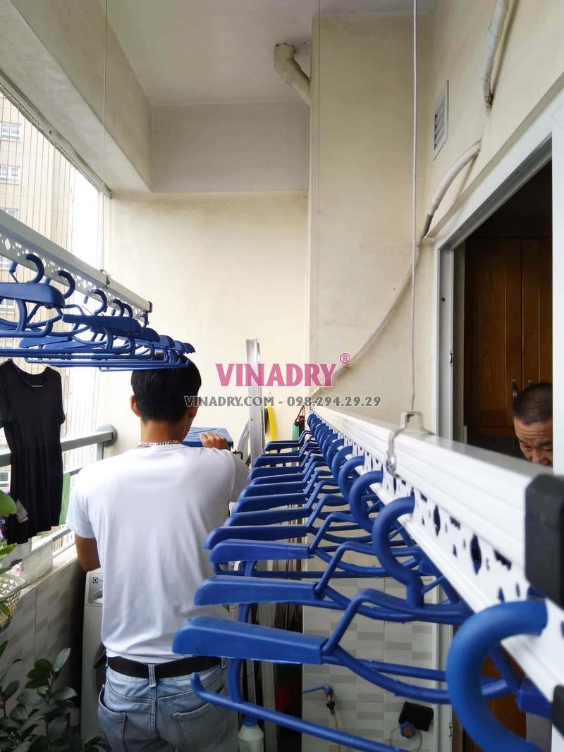 Lắp giàn phơi thông minh Hoàng Mai tại nhà anh Mạnh bộ HP701 - 04