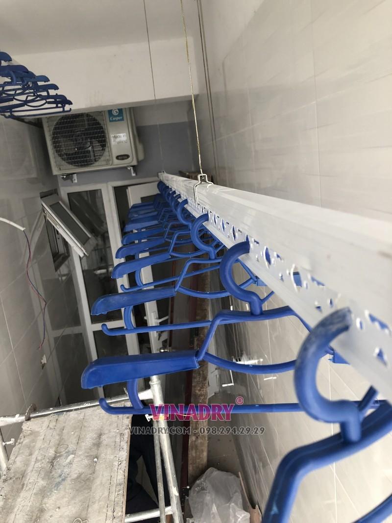Lắp giàn phơi giá rẻ tại Hà Nội chung cư CT2 Hoàng Cầu, Đống Đa nhà chị Lan - 01