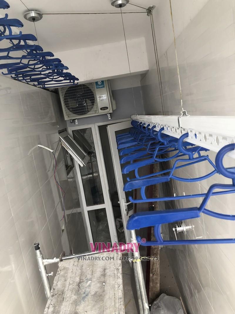 Lắp giàn phơi giá rẻ tại Hà Nội chung cư CT2 Hoàng Cầu, Đống Đa nhà chị Lan - 06