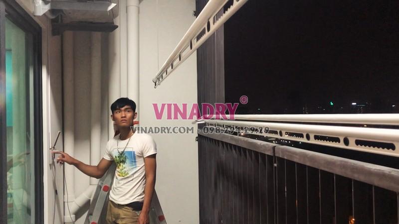 Lắp giàn phơi tự động Vinadry tại nhà chị Hương, CT1 chung cư Mỹ Đình Plaza - 01