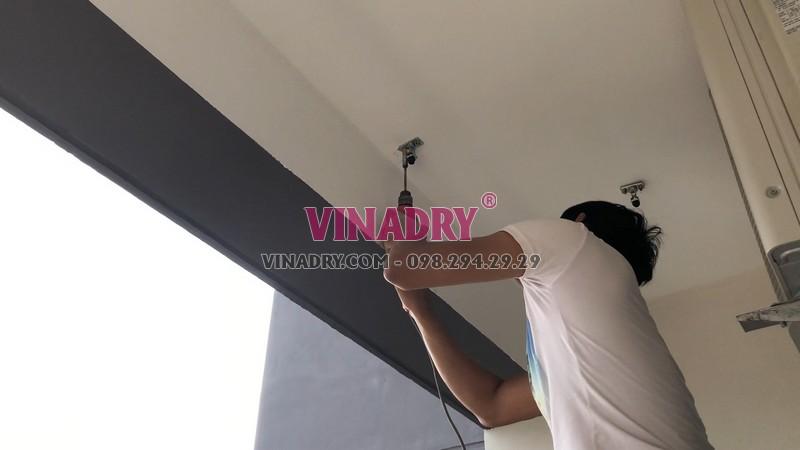 Lắp giàn phơi tự động Vinadry tại nhà chị Hương, CT1 chung cư Mỹ Đình Plaza - 02