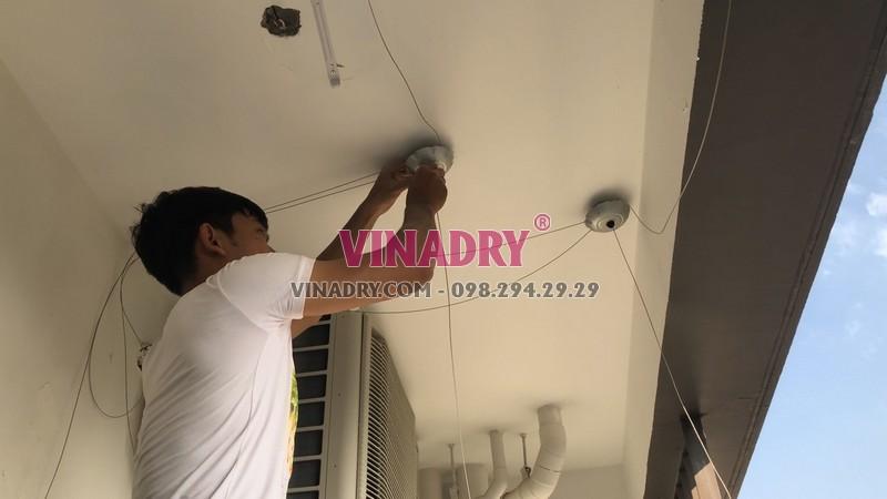 Lắp giàn phơi tự động Vinadry tại nhà chị Hương, CT1 chung cư Mỹ Đình Plaza - 03