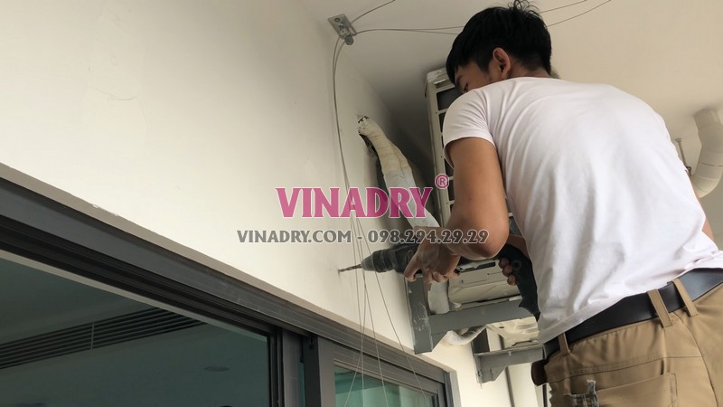 Lắp giàn phơi tự động Vinadry tại nhà chị Hương, CT1 chung cư Mỹ Đình Plaza - 04