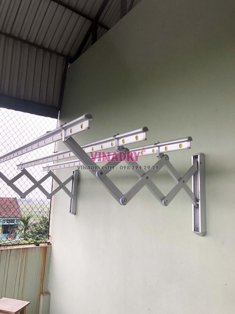 Lắp giàn phơi kéo ngang Hòa Phát nhà anh Tùng, Thanh Trì, Hà Nội - 01