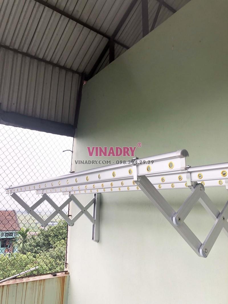 Lắp giàn phơi kéo ngang Hòa Phát nhà anh Tùng, Thanh Trì, Hà Nội - 07