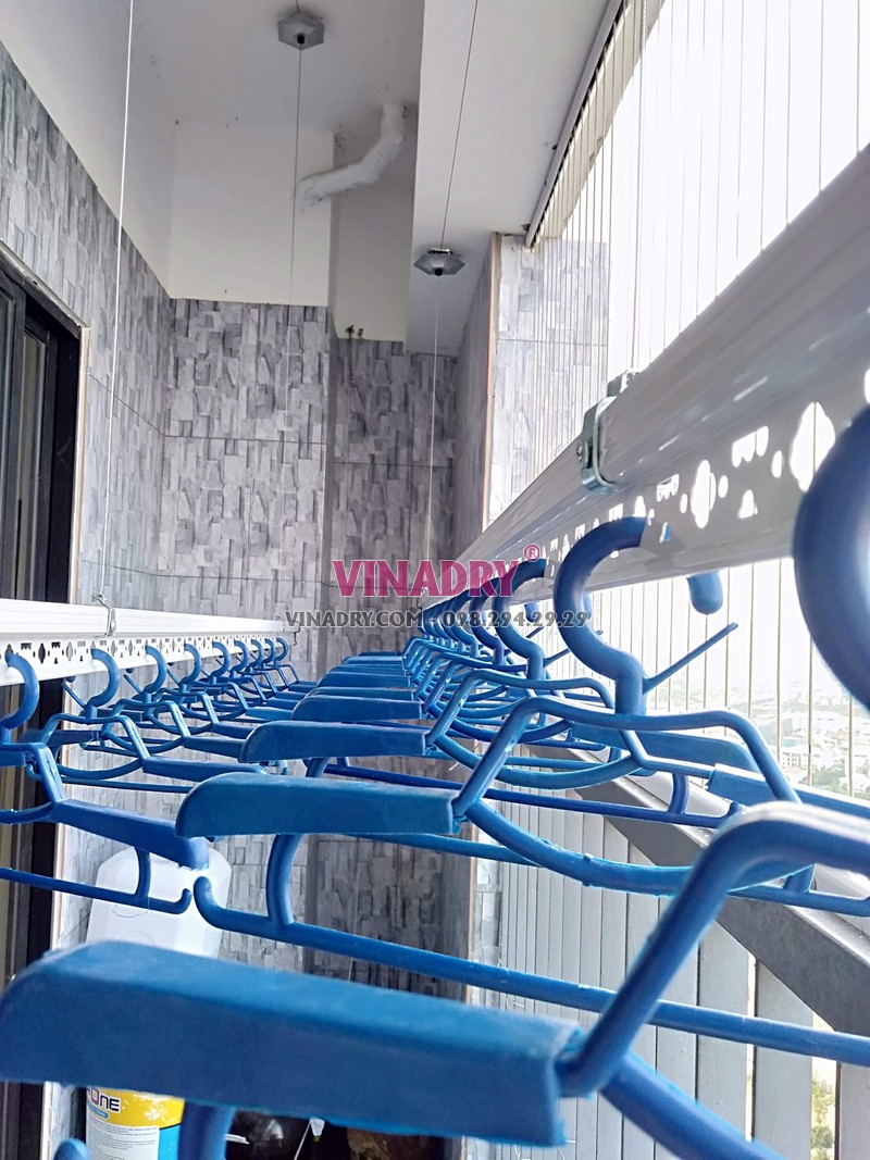Lắp giàn phơi Hòa Phát tại Hoàng Mai nhà anh Cao, tòa C Vinaconex 2, KĐT Kim Văn Kim Lũ - 02