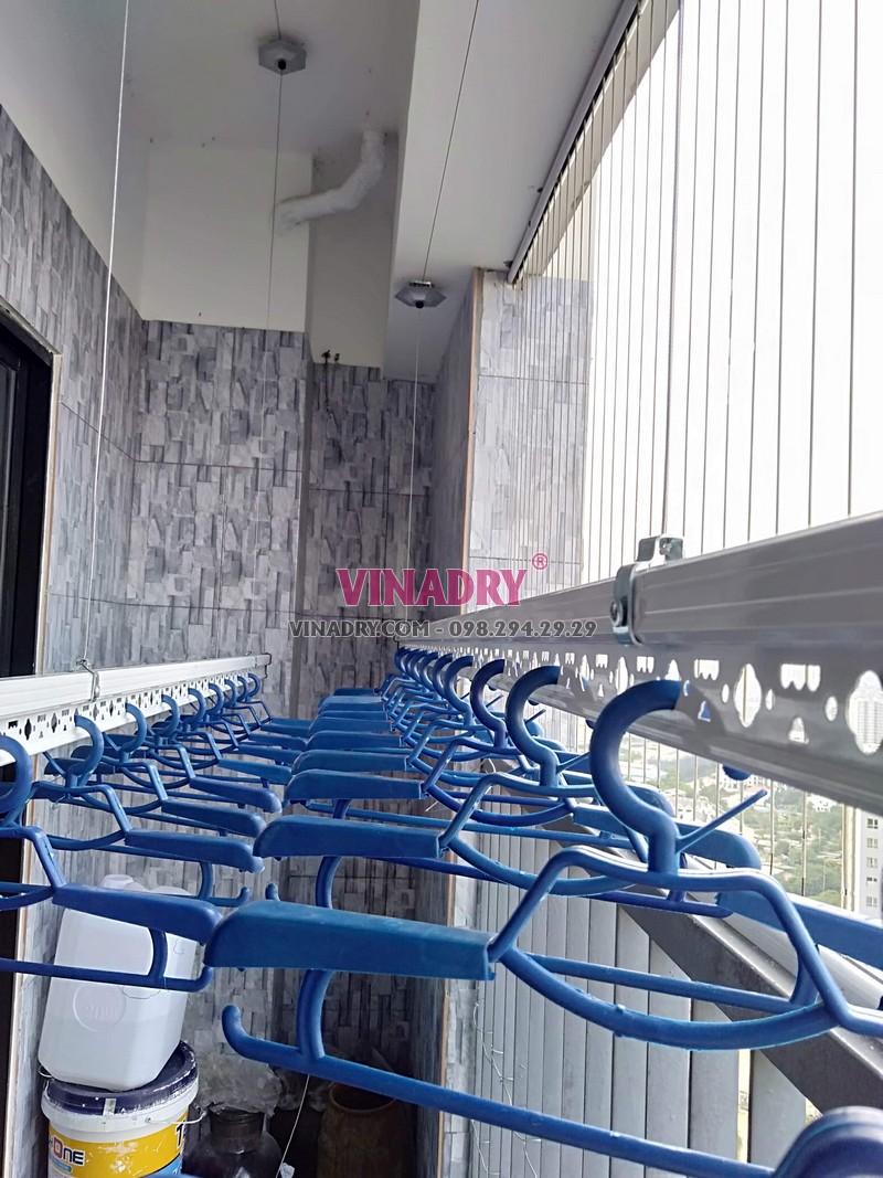 Lắp giàn phơi Hòa Phát tại Hoàng Mai nhà anh Cao, tòa C Vinaconex 2, KĐT Kim Văn Kim Lũ - 04