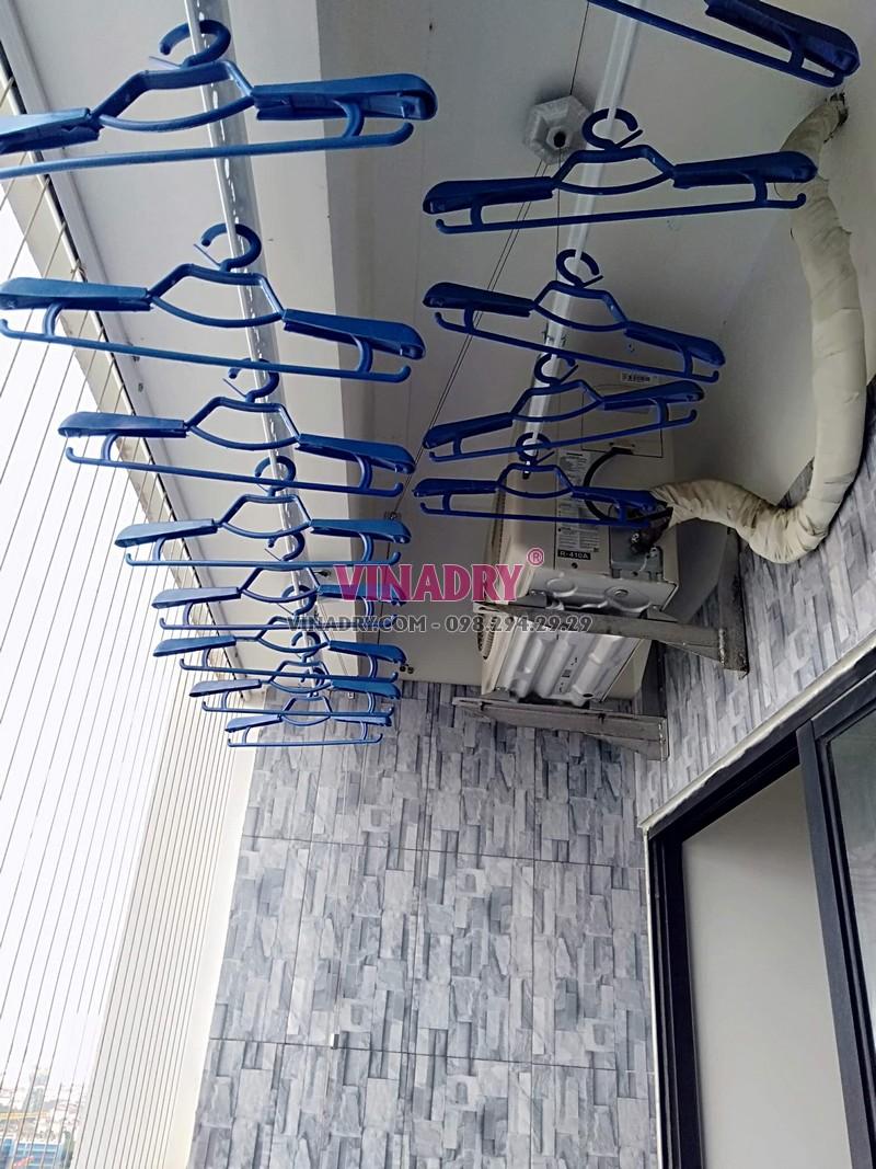 Lắp giàn phơi Hòa Phát tại Hoàng Mai nhà anh Cao, tòa C Vinaconex 2, KĐT Kim Văn Kim Lũ - 07